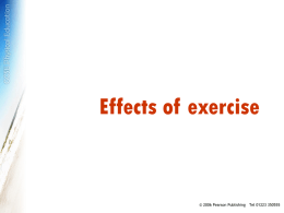Effects of exercise - Pearson Publishing