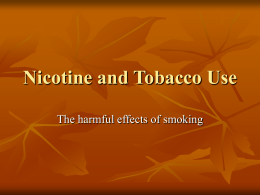 Chapter 20 Tobacco PowerPoint