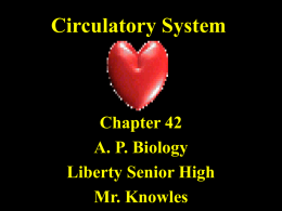Chapter 42 Circulatory System