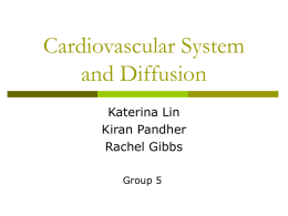 Cardivascular System and Diffusion