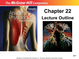 chapt22studentnotes - Human Anatomy and Physiology