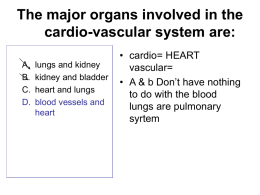 The major organs involved in the cardio