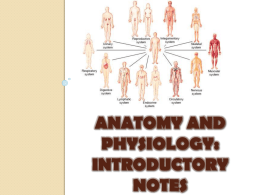 Anatomy and Physiology: Body Systems Introduction