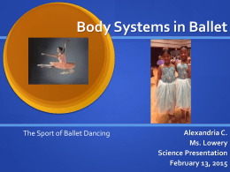 Body Systems in Ballet - cooklowery14-15