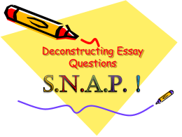SNAP Essay Questions