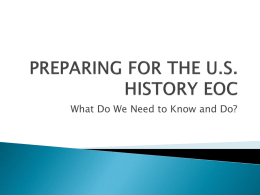 preparing for the u.s. history eoc - polk-fl