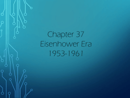 Chapter 37 Eisenhower Era