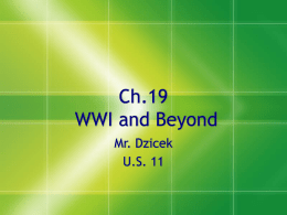 Ch.19: WWI and Beyond - Somers Public Schools