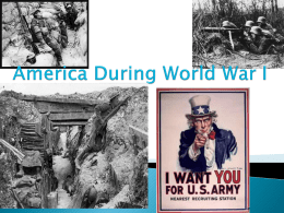 America During World War I