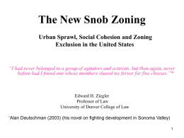 The New Snob Zoning