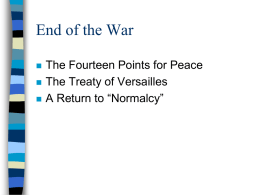 End of War PowerPoint