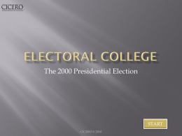 Electoral college ppt - West Ada School District