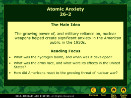 Lesson 26-2: Atomic Anxiety