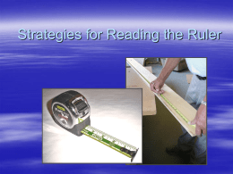 Strategies for Reading the Ruler