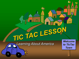 Learning About America Lesson