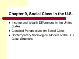 Chapter 7 Class And Stratification In The United States