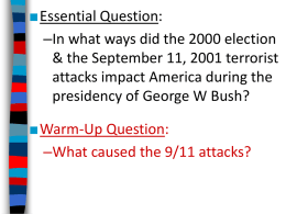 George W. Bush and War on Terror (PowerPoint)