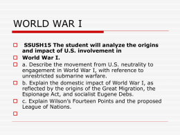 "United States History Unit ""Isolation vs"
