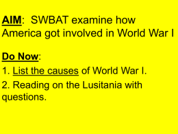 American Causes of WWI
