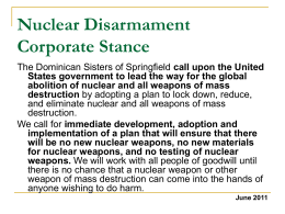 Nuclear Disarmament Corporate Stance