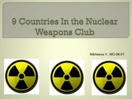 9 Countries In the Nuclear Weapons Club