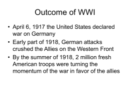 Outcome of WWI