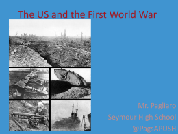 The US and the First World War