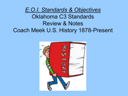 EOI Standards & Objectives Review & Notes Coach Meek US History