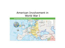 American Involvement in World War I