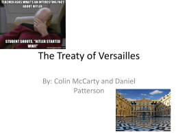 The Treaty of Versailles-KSU