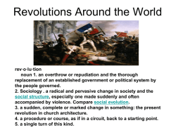 Revolutions Around the World