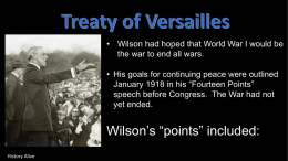 treaty of versailles peacex