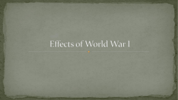 U3D7- Effects of WWI