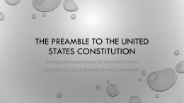The Preamble Notes and Drawing Instructions