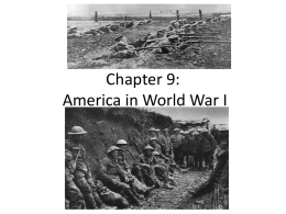 Chapter 9 America in World War I
