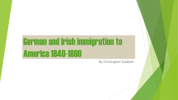 German and Irish immigration to America