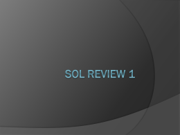 SOL Review 1