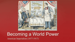 the spanish american war and imperialism Was a secret diplomatic communication issued from the german foreign office in january 1917 that proposed a military alliance between germany and mexico in the prior event of the united states entering world war i against germany.