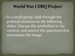 World War I Political Cartoon Project