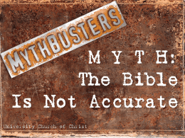 M Y T H: The Bible Is Unreliable