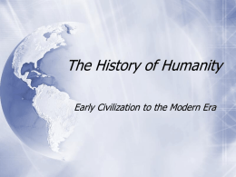 History of the Human Race
