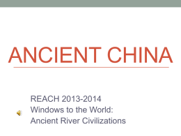 Ancient China - Bibb County Schools