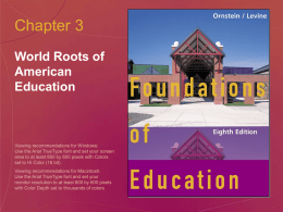 Chapter 3: World Roots of American Education