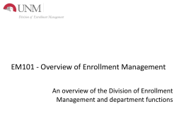 EM101_Overview - University of New Mexico
