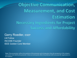 Objective Communication and Measurement