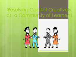 Managing Conflict In Today`s Schools