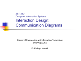 Communication diagrams - School of Engineering and Information