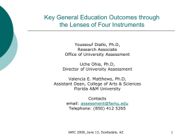 Key General Education Outcomes through the Lenses of Four