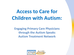 Autism Speaks Autism Treatment Network