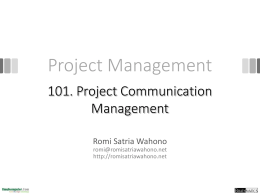 Project Management - Romi Satria Wahono